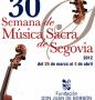 30 Semana de Música Sacra de Segovia