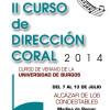 """II Curso de Dirección Coral """"Dirige Coros"""""""