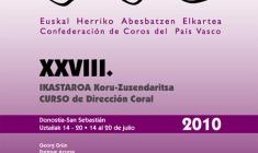 Curso de Dirección Coral 2010 de la Confederación de Coros del País Vasco