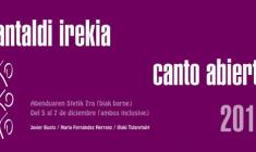 VII Canto Abierto: Javi Busto, Nuria Fernández e Iñaki Tolaretxipi