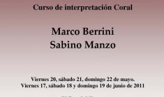 """Vox Mirabilis"": Curso de Canto Coral con Marco Berrini y Sabino Manzo"