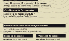 Obradoiro de Canto Coral con Javi Busto en la Universidade da Coruña