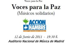 """El concierto 2011 de """"Voces para la Paz"""" (Músicos Solidarios)"""