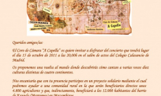 "Coro de cámara ""A Capella"": concierto a favor de Manos Unidas"