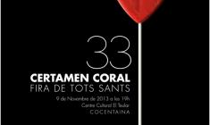 XXXIII Certamen Coral Fira de Tots Sants de Cocentaina