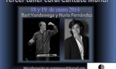 Tercer Taller Coral Cantate Mundi: Entre Amigos
