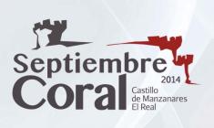 Septiembre Coral en el Castillo de Manzanares el Real