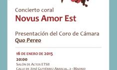 """Concierto presentación del Coro de Cámara """"Quo Pereo"""""""