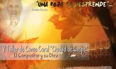"""V Taller de Canto Coral """"Ciudad de Caspe"""" con Javi Busto"""