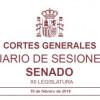 Senado de España: Reconocimiento de la actividad coral como bien cultural