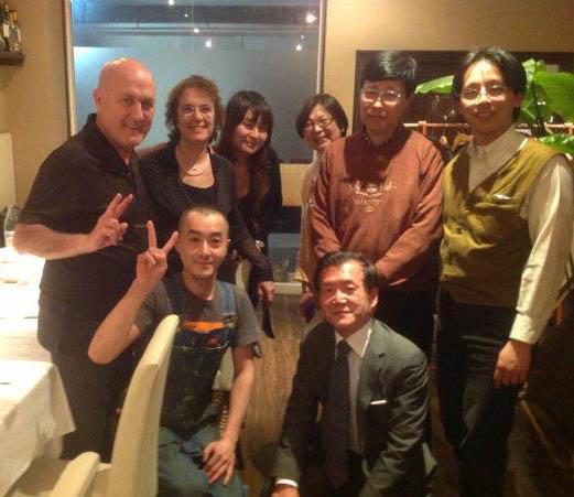 Cena con Matsubara Nojima  Sachiko y presidente de Kobe Chuo Chorus
