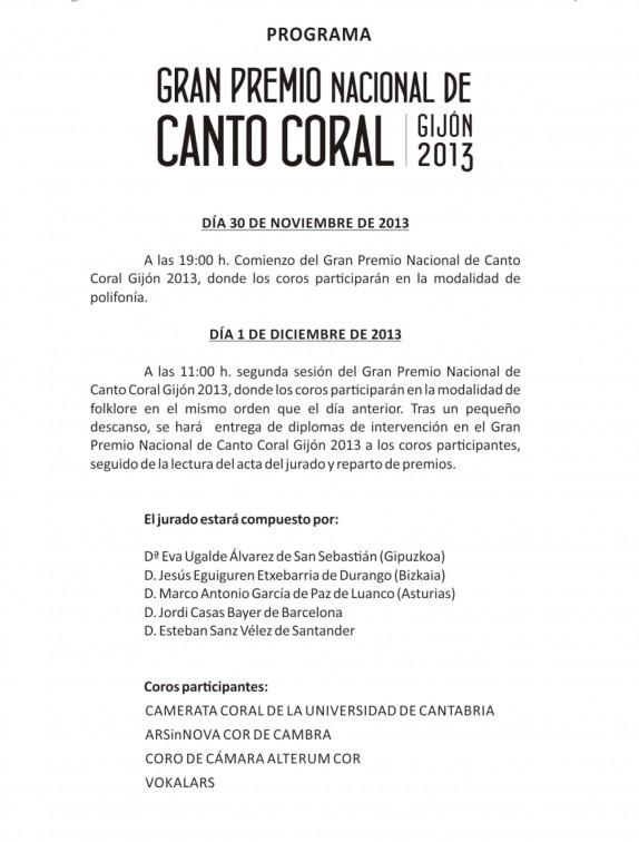 Programa Coral 2013-4