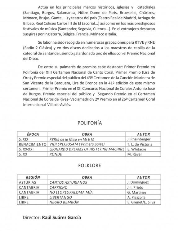 Programa Coral 2013-6
