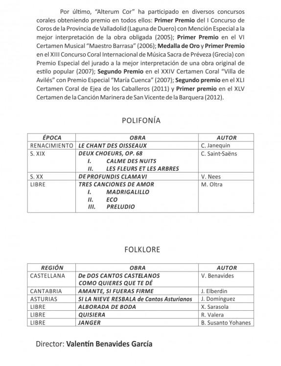 Programa Coral 2013-9