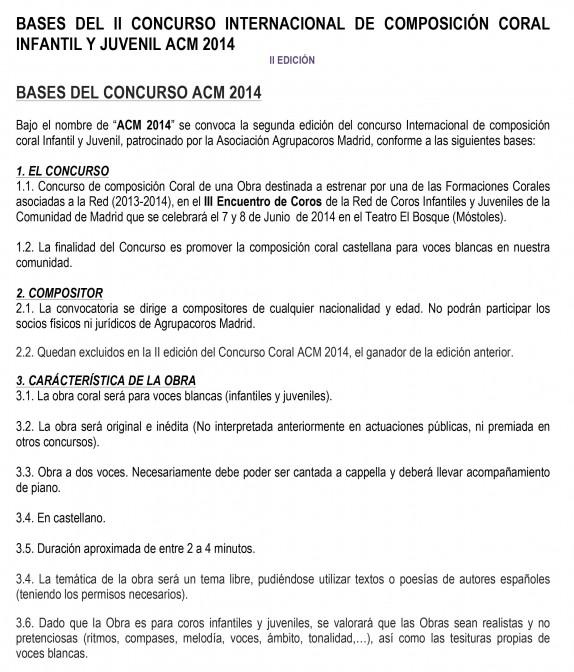 Microsoft Word - Bases del II Concurso ACM.doc
