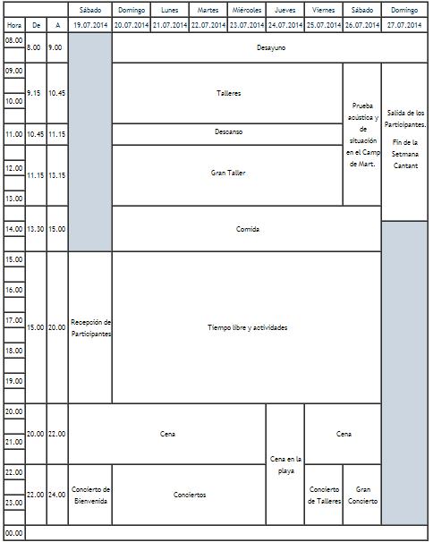 Calendario TSC