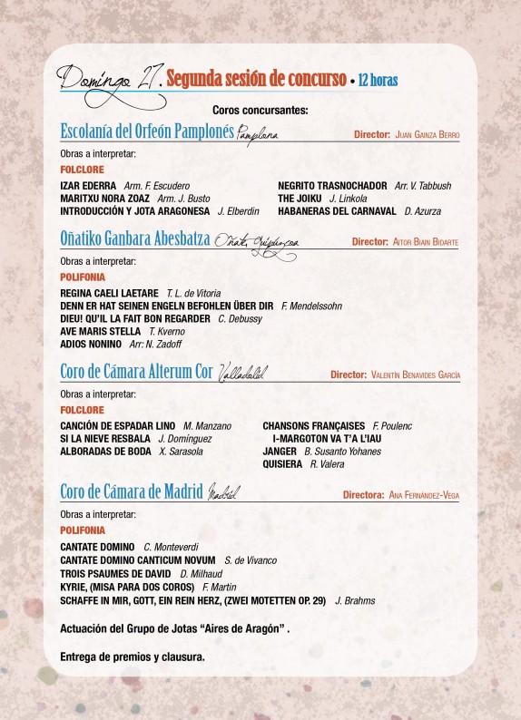 Programa de mano del GP Ejea 2014-5