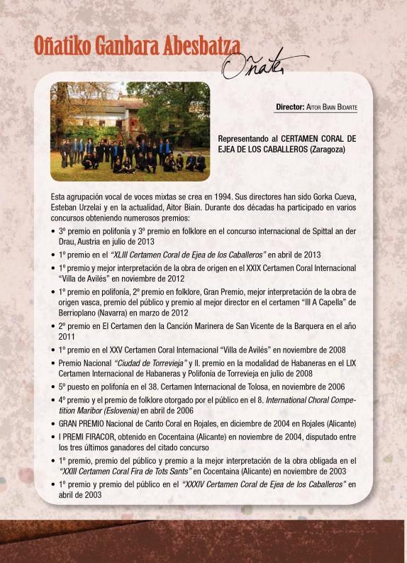 Programa de mano del GP Ejea 2014-7