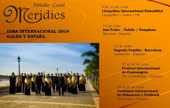 Estudio Coral Meridies Gira Internacional 2014