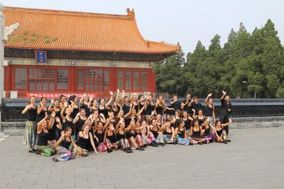 Leioa Kantika Korala en los jardines de la Ciudad Prohibida de Pekín