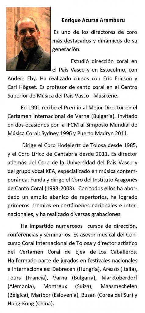 """Triptico IV Taller Coral """"Ciudad de Caspe"""""""