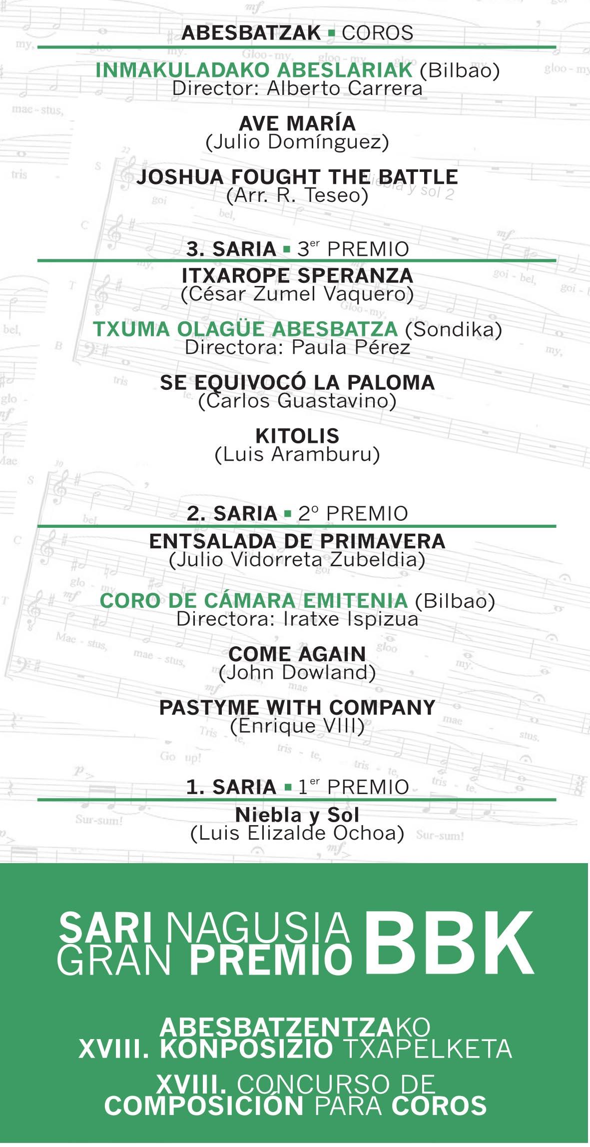BBK - GRAN PREMIO BBK Composicion para coros.cdr