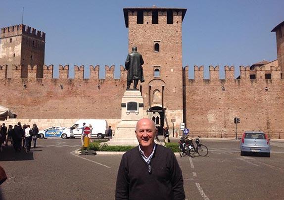 Javi Busto en Verona