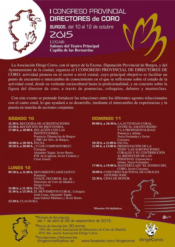 Programa Congreso de Directores de Coro