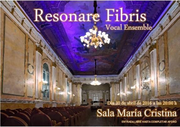 Cartel concierto Maria Cristina