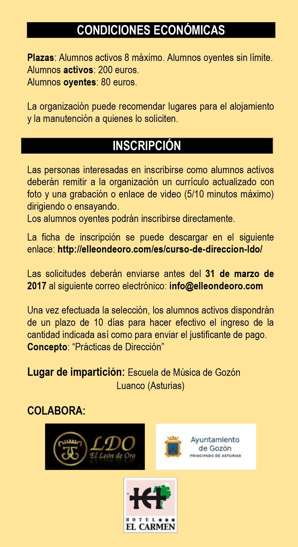 I CURSO DE DIRECCIÓN LDO 2017-4