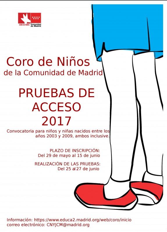 Cartel pruebas Coro de Niños 2017