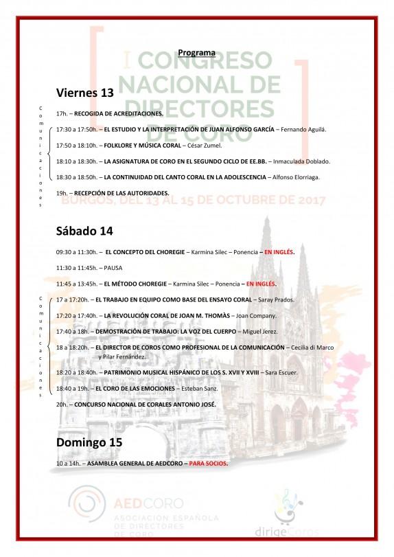 Congreso AEDCORO Programa 2017b