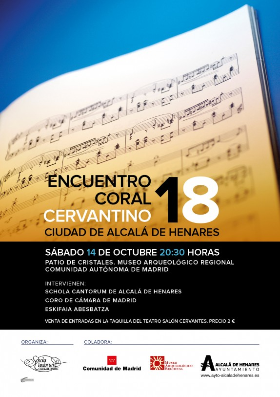 CARTEL 18 ENCUENTRO CORAL CERVANTINO